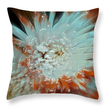 Throw Pillow featuring the photograph The Art Of Flowers by Sherri  Of Palm Springs