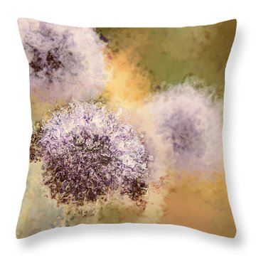 The Art Of Pollination Throw Pillow by Peggy Collins