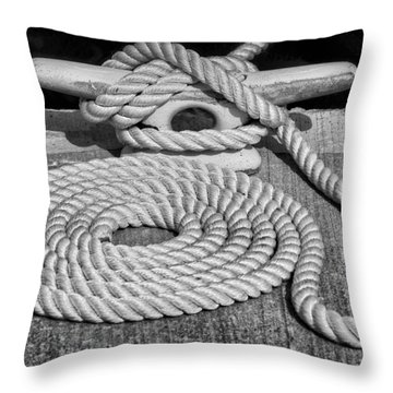 The Art Of Rope Lying Throw Pillow