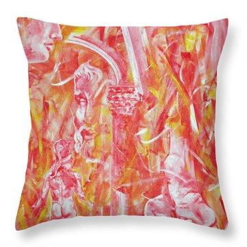 The Art Of Sculptures Throw Pillow