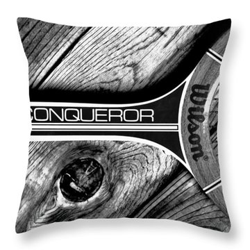 The Art Of Tennis Throw Pillow by Benjamin Yeager