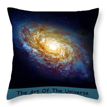 The Art Of The Universe 301 Throw Pillow by The Hubble Telescope