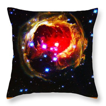 The Art Of The Universe 323 Throw Pillow by The Hubble Telescope