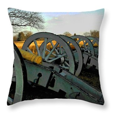 The Artillery Throw Pillow by Cindy Manero