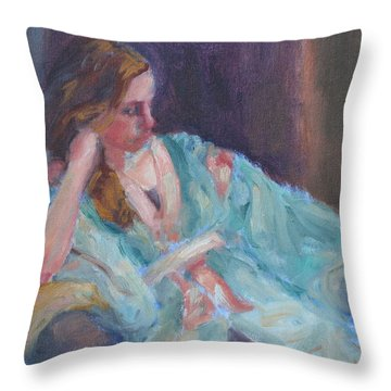 Inner Light - Original Impressionist Painting Throw Pillow