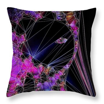 Throw Pillow featuring the painting The Artists Soul by Susan Maxwell Schmidt