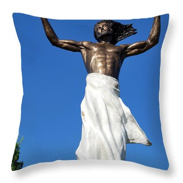 The Ascension Of Jesus Throw Pillow