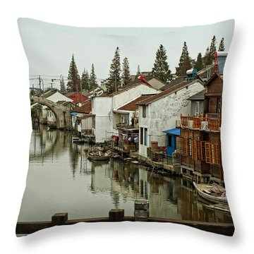 The Asian Venice  Throw Pillow