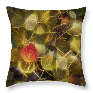 The Aspen Leaves Throw Pillow