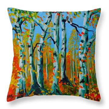 The Aspens Throw Pillow