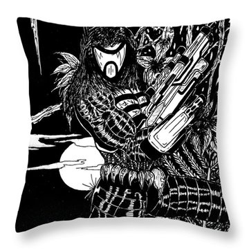 The Assassin Throw Pillow by Justin Moore