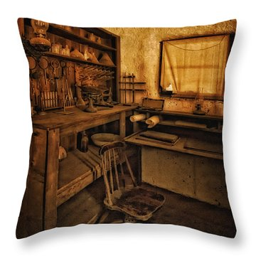 The Assay Office Throw Pillow by Priscilla Burgers