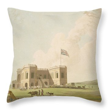 The Assembly Rooms On The Race Ground Throw Pillow