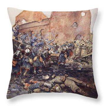 The Assualt Of Vermelles, 1915 Throw Pillow