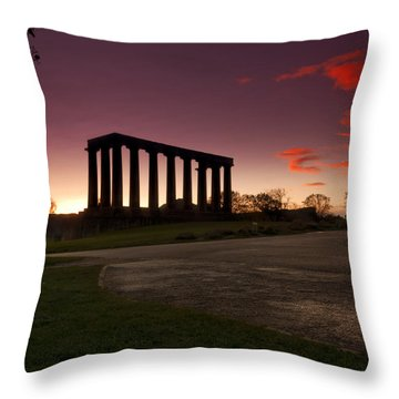 The Athens Of The North Throw Pillow