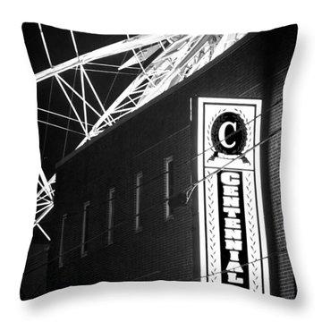 The Atlanta Wheel Throw Pillow