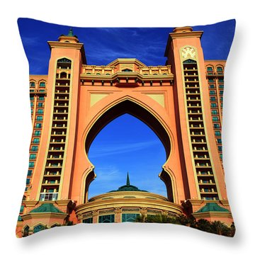 The Atlantis Throw Pillow by Farah Faizal