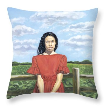 The Auction Block Throw Pillow by Colin Bootman