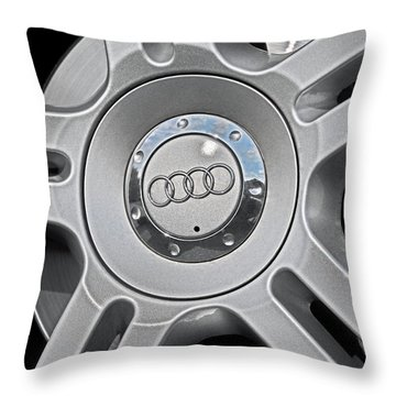 The Audi Wheel Throw Pillow