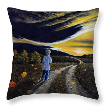 The Autumn Breeze Throw Pillow