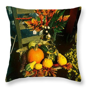 The Autumn Chair Throw Pillow by Rodney Lee Williams