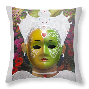 The Autumn Fairy Throw Pillow