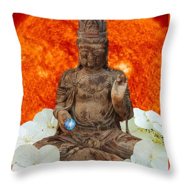 Throw Pillow featuring the photograph The Awakening  C2014 by Paul Ashby