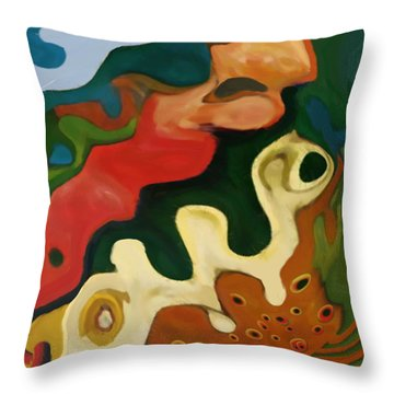 Throw Pillow featuring the painting The Awakening by Jann Paxton