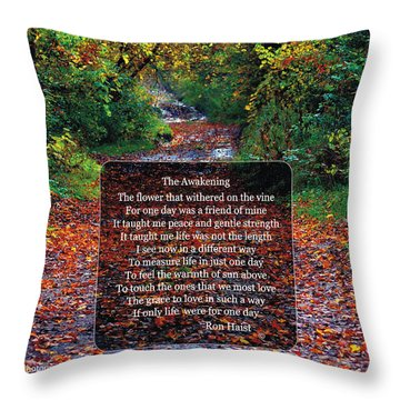 Throw Pillow featuring the photograph The Awakening by Ron Haist