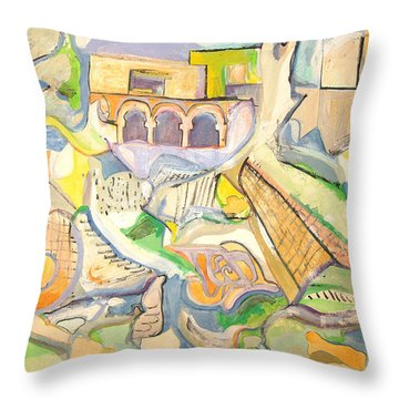 The Babylonian Exile Throw Pillow by Esther Newman-Cohen