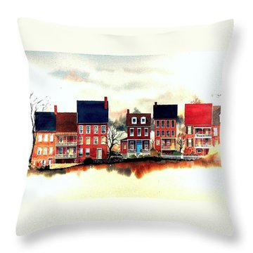 The Back Of The Strand Throw Pillow