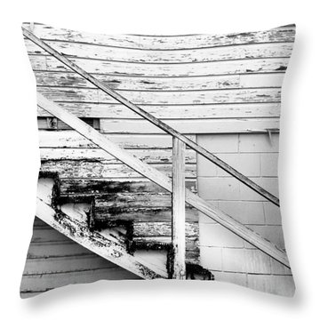 The Back Stairs Throw Pillow by Beverly Stapleton