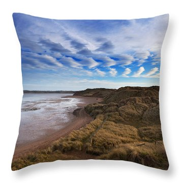 The Backstrand, Tramore, County Throw Pillow