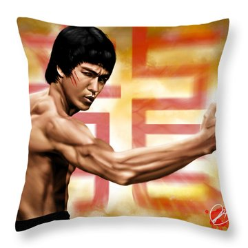 The Baddest Throw Pillow by Pete Tapang