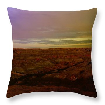 The Badlands Throw Pillow by Jeff Swan