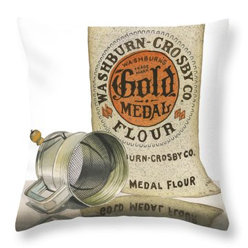 The Bakers Choice Throw Pillow