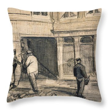 The Bakery In De Geest Throw Pillow by Vincent Van Gogh