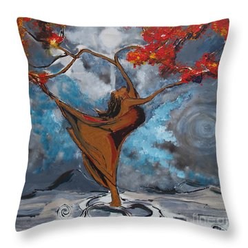 The Balancing Act Throw Pillow