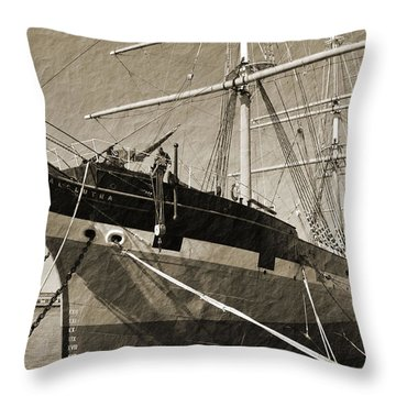 The Balclutha Throw Pillow by Holly Blunkall