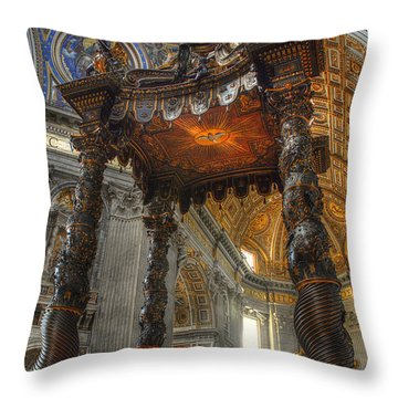 The Baldaccino Of Bernini Throw Pillow