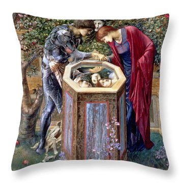 The Baleful Head, C.1876 Throw Pillow by Sir Edward Coley Burne-Jones