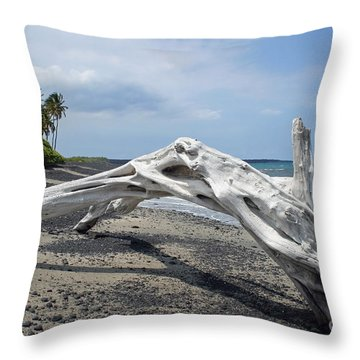 The Bali House View Throw Pillow by Bob Hislop