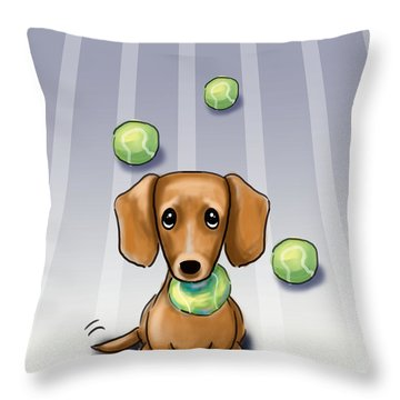The Ball Catcher Throw Pillow