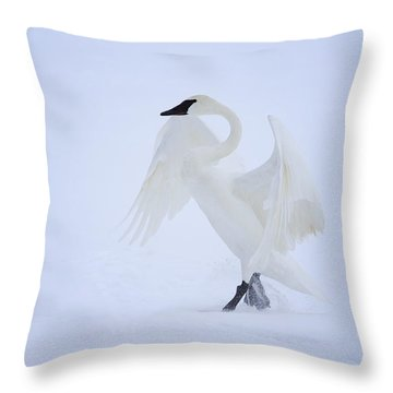The Ballerina Throw Pillow