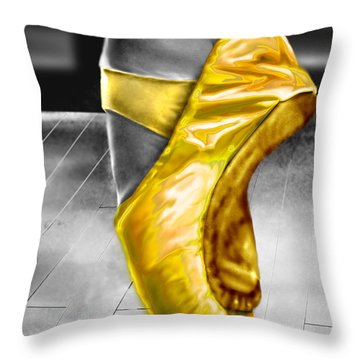 The Ballerina N Yellow  Throw Pillow