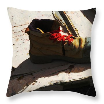 The Ballet Boot Throw Pillow by Steve Taylor