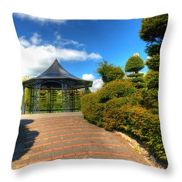 The Bandstand Throw Pillow by Steve Purnell