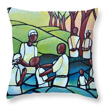 The Baptism Throw Pillow by AC Williams