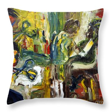 The Barbers Shop - 1 Throw Pillow