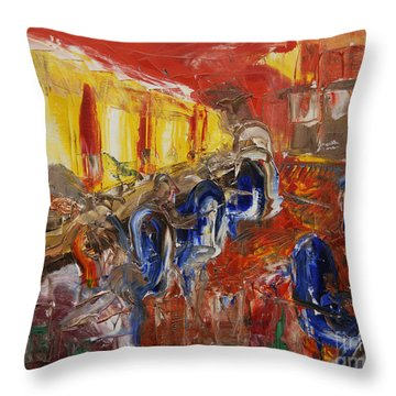 The Barber's Shop - 2 Throw Pillow